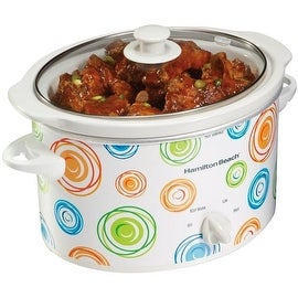 Hamilton Beach 33138 Oval Slow Cooker, 3 Quart