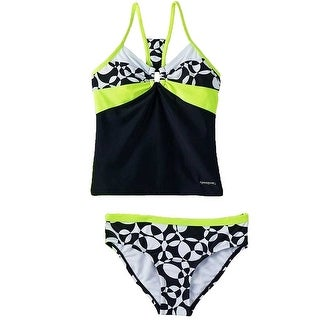 ZeroXposur Girls' Geometric Tankini Bikini Swimsuit Set Zest Size 16 - 10