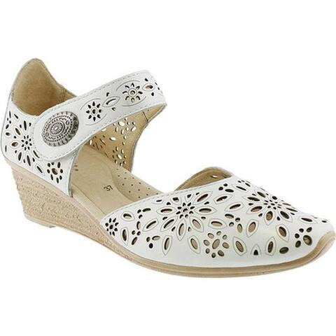 7314be58b492 Spring Step Women s Nougat Closed Toe Sandal White Leather