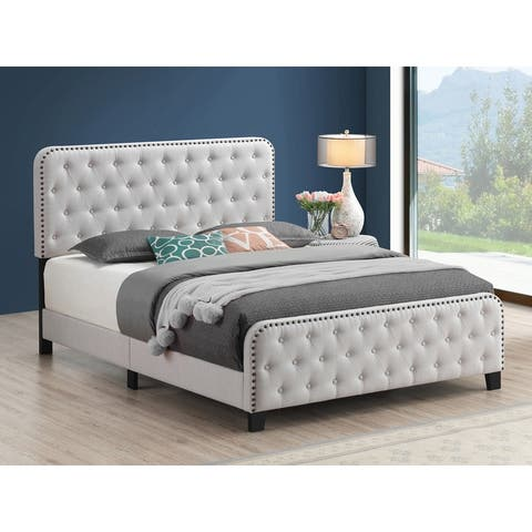Copper Grove Puhovoa Tufted Upholstered Panel Bed
