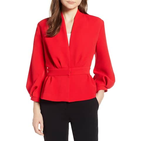 Halogen Womens Chinoise V-Neck Blouson Sleeve Jacket