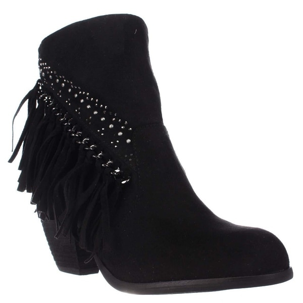 Not Rated Noora Studded Fringe Ankle Boots, Black