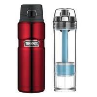 Thermos Stainless King 24oz Drink Bottle & 22oz Tritan Water Filtration Bottle
