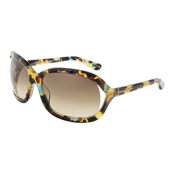 Tom Ford FT0278/S 55W Vivienne Tokyo Tortoise Oval Sunglasses - tokyo tortoise - 61-17-115