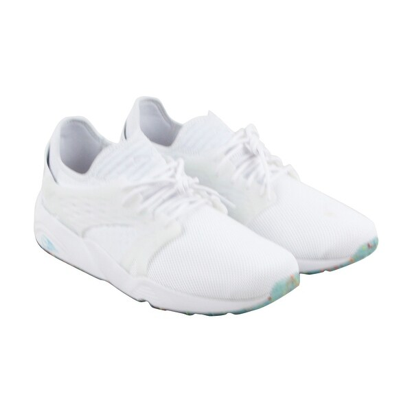 Puma Blaze Cage Kiku Fm Mens White Mesh Athletic Lace Up Running Shoes