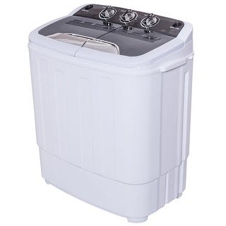 Costway Compact Mini Twin Tub 8lbs Washing Machine