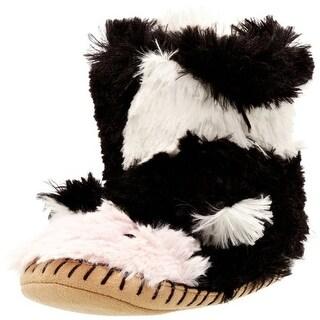 Hatley Girls Slouch-Slipper-Cow Children's Lined Novelty Slippers