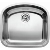 "Blanco 440249 Wave Single Basin Undermount Stainless Steel Kitchen Sink with 10"" Bowl Depth 22 7/16"" x 20 7/16"""