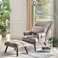 Deals on OVIOS Recliner Chair with Ottoman