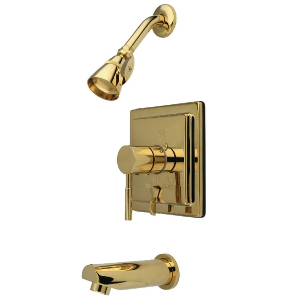 Kingston Brass KB865.0DL Concord Tub and Shower Trim Package with 1.8 GPM Single Function Shower Head