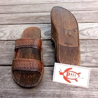 Pali Hawaii Jandals BROWN with Certificate of Authenticity