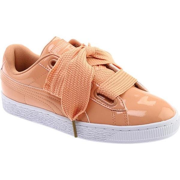 eeb60b638bfe PUMA Women  x27 s Basket Heart Patent Sneaker Dusty Coral Dusty Coral
