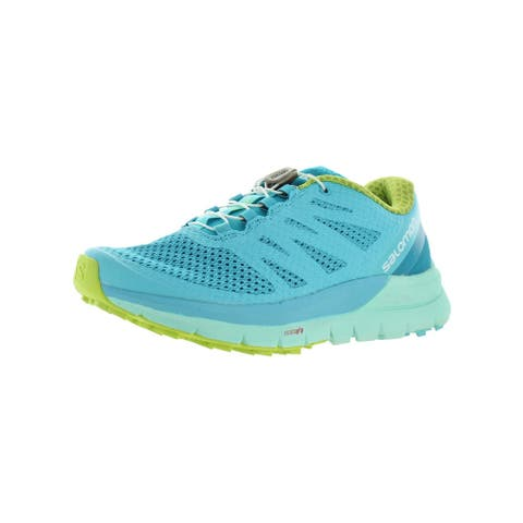 Salomon Womens Sense Pro Max Hiking, Trail Shoes Lifestyle Exercise - Blue Curacao/Beach Glass/Acid Lime