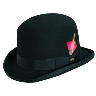 Scala Men's Wool Felt Derby Bowler Hat