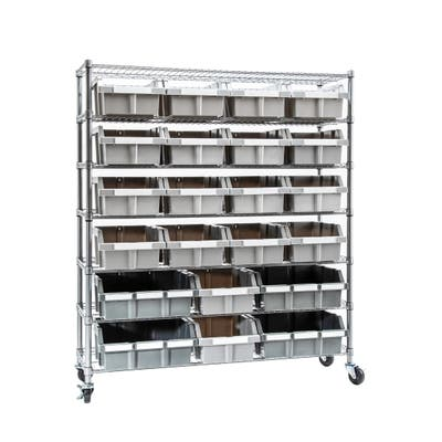 7-Tier Extra-Large Commercial 21 Bin NSF-Certified Rack