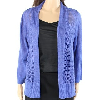 Alfani NEW Alf Pery Blue Women's Size Small S Knit Cardigan Sweater