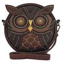 Loungefly Brown Owl Crossbody Bag Tote with Gold Embroidery - One Size Fits most
