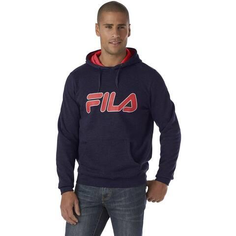 Fila Mens Contrast Logo Pullover Hoodie Medium Navy