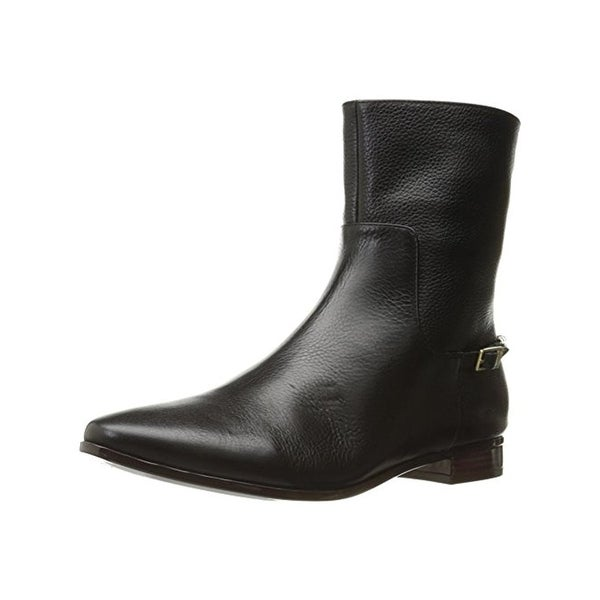 Calvin Klein Womens Finius Casual Boots Chain Almond Toe Black 9 Medium (B,M) - 9 medium (b,m)