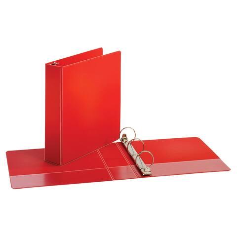 Cardinal Performer Non-Locking Round Ring Binder, 2 Inches, Red