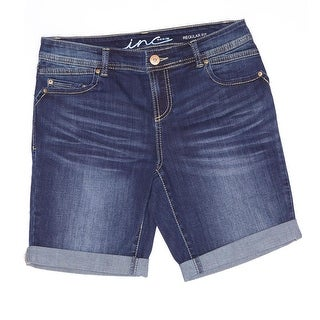 INC International Concepts Regular Fit Bermuda Short Women Denim Shorts
