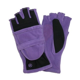 Isotoner Women's Fleece Stretch Convertible Gloves with Thumb Hole - 1 size