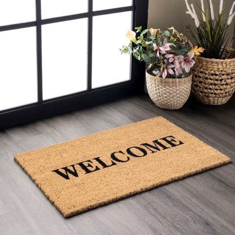nuLOOM Coir Welcome Doormat