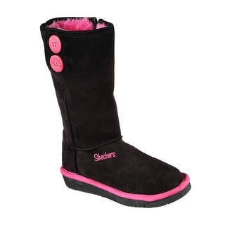 Skechers 89124L BKHP Girl's GLAMSLAM - BUTTON BEAUTIES Boots