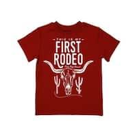 Farm Boy Western Shirt Boys First Rodeo Short Sleeve Red