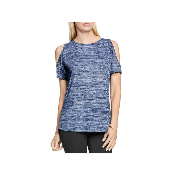 2598b78087503 Shop Two by Vince Camuto Womens Casual Top Heathered Cold Shoulder - Free  Shipping On Orders Over  45 - Overstock - 18393823