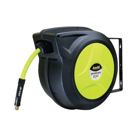 Amflo 588HR-RET Ultra Air Hybrid Air Hose Reel, Green, 300 psi