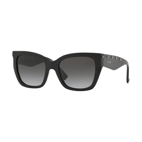 Valentino VA4048 50018G 53 Black Woman Cat Eye Sunglasses