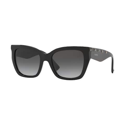 Valentino VA4048 50018G 53 Black Woman Cat Eye Sunglasses