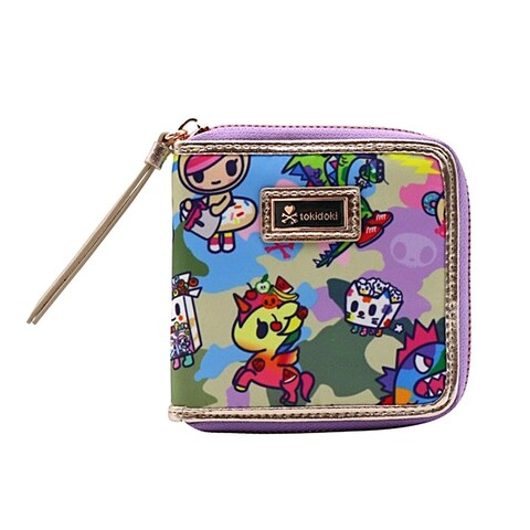 Tokidoki Camo Kawaii Small Zip Around Wallet - One Size Fits most