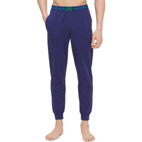 Calvin Klein Mens Sleepwear Blue Size Medium M Lounge Jogger Pants