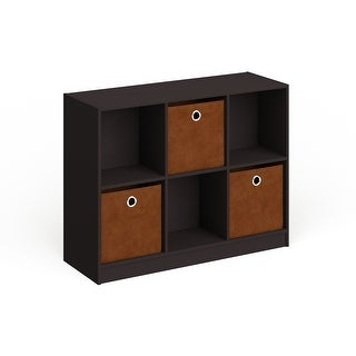 Link to Porch & Den Szold Basic Storage Bookcase with Bins Similar Items in Bookshelves & Bookcases