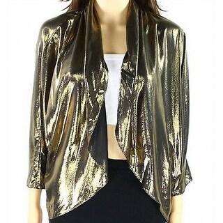 MSK NEW Gold Women's Size Small S Shimmer Open Front Shrug Jacket