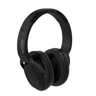 TechComm Chord Active Noise Cancelling Wireless Headphones, Black