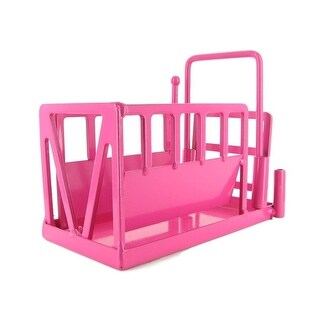 Little Buster Toy Heavy Duty Metal Cattle Chute Pink 500236