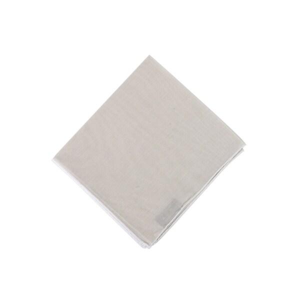 Tom Ford Mens Solid Beige Silk Pocket Square