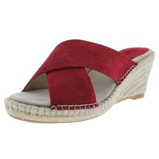 Johnston & Murphy Womens Arlene Suede Cross Front Wedge Sandals