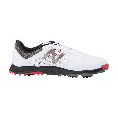 Men's New Balance Minimus Tour White/Red Golf Shoes NBG1007WRB-W (WIDE)