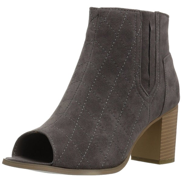 Journee Collection Womens Henley Peep Toe Ankle Fashion Boots