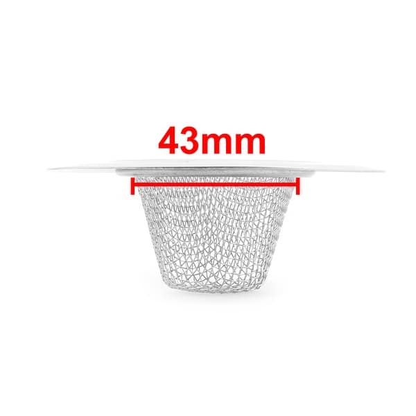 uxcell Stainless Steel Kitchen Bathroom Round Basin Mesh Basket Sink Strainer 73mm Dia 5PCS