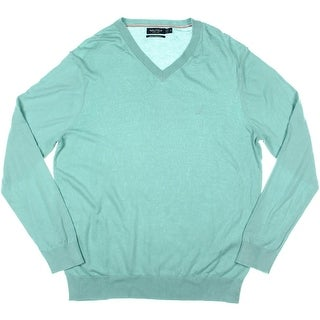 Nautica Mens Long Sleeves V-Neck Pullover Sweater