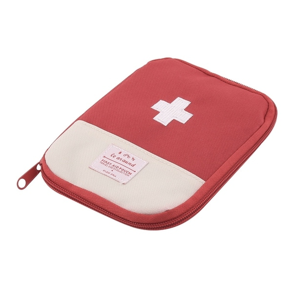 Outdoor Camping Portable Rectangle Shape First Aid Kit Medic Rescue Bag Red
