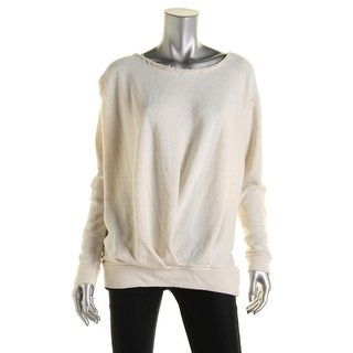Free People Womens Knit Pleated Pullover Top - S