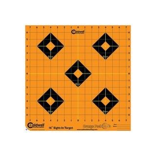 Caldwell 495253 caldwell 495253 orange peel sight-in target: 16 5 sheets