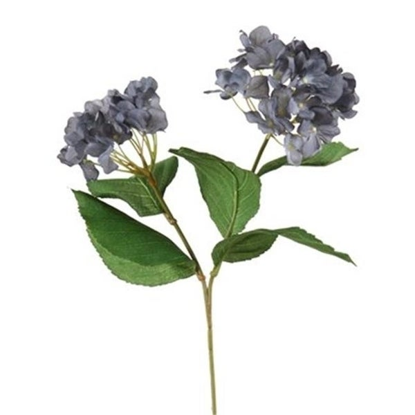 Distinctive Designs DP-800-GYBL DIY Flower Antique Gray Blue Hydrangea x 2 with 5 Leaves - Pack of 12