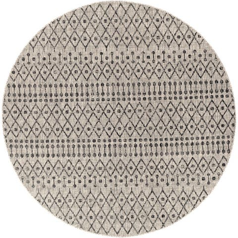 Elpida Indoor/ Outdoor Moroccan Stripe Area Rug